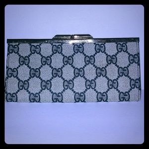 Vintage Gucci Monogram GG Wallet, Coin Purse